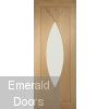 Pesaro with Clear Glass Unfinished Oak Door