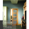 Oak Shaker 4L Obscure Glazed Prefinished Door In Situ