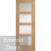 Shaker 4 Light Room Divider with Matching Demi Panels