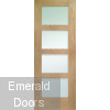 Shaker 4 Light Internal Oak Door with Obscure Glass