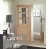 Suffolk 6 Light Internal Oak Door with Clear Bevelled Glass In Situ