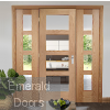 Oak Shaker 4 Light Room Divider with Matching Demi-Panels