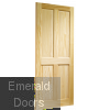 Clear Pine Victorian 4 Panel Fire Door Skewed Image