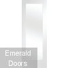 White Pattern 10 Clear Glazed Single Door Room Divider with Demi Panel