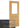 Windsor Clear Glazed Oak Door Pair