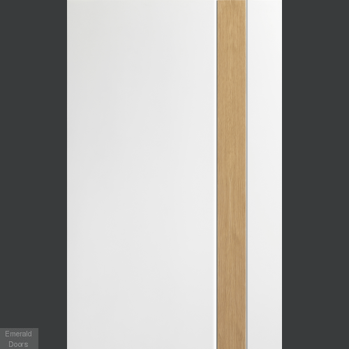 Praiano White Rustic Oak Fire Door