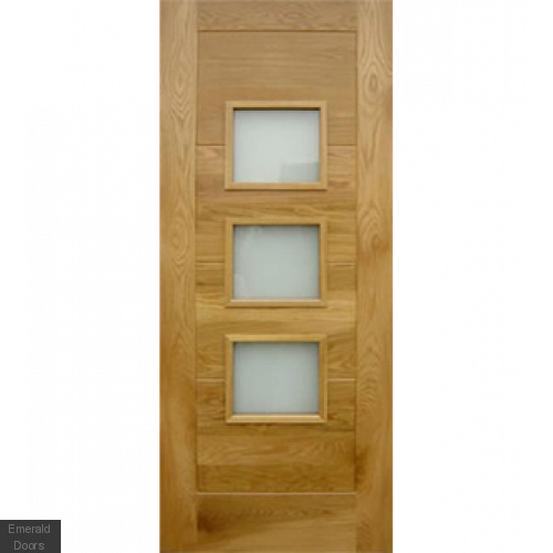 Contemporary Oak Arta Part L External Door