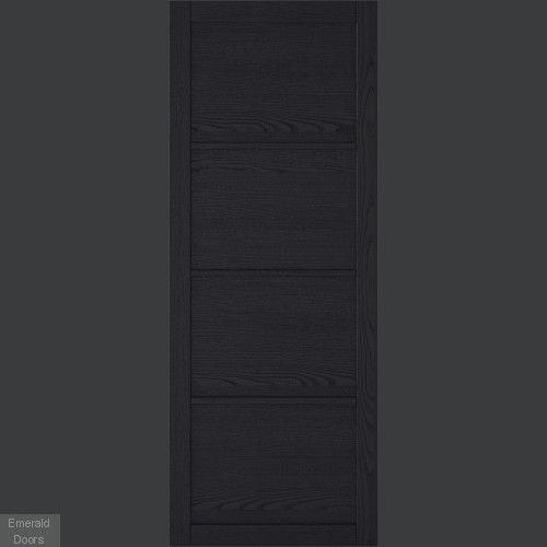 Charcoal Soho 4 Panel Industrial Style Door Pair