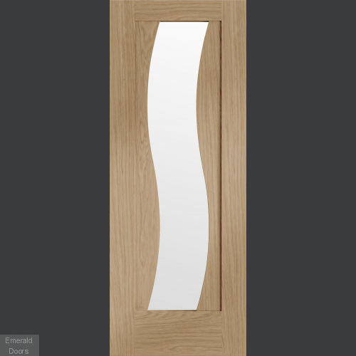Florence Oak Internal Door with Clear Glass