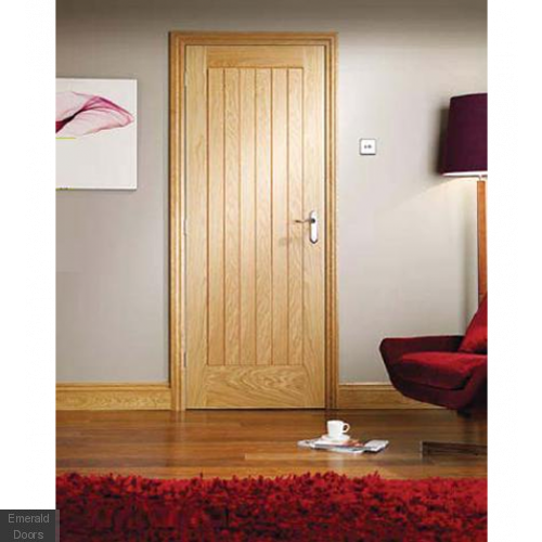 Suffolk Fire Door Oak Prefinished