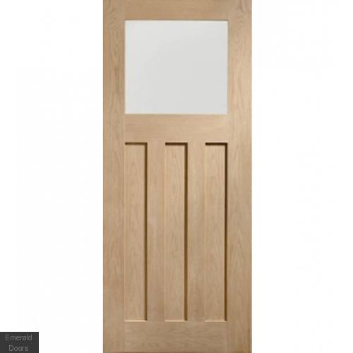 Oak DX Flat Panel Glazed Internal