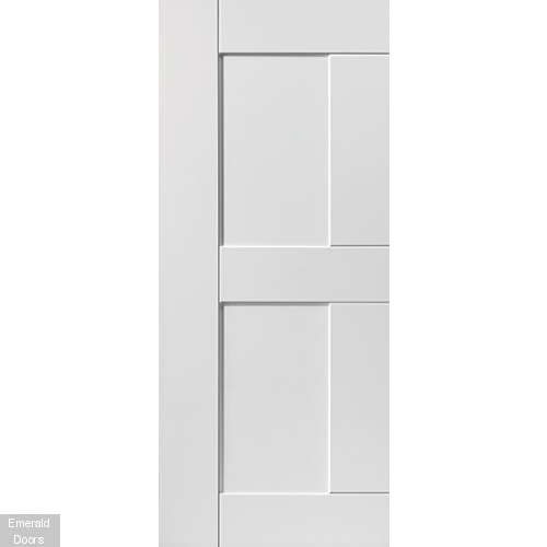 Contemporary White Eccentro Fire Door