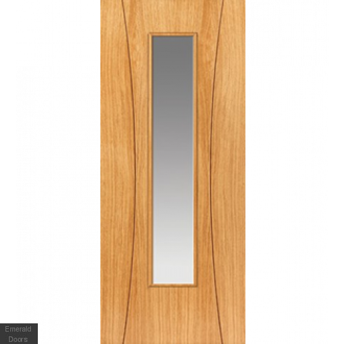 Contemporary Arcos Glazed Internal Oak Door