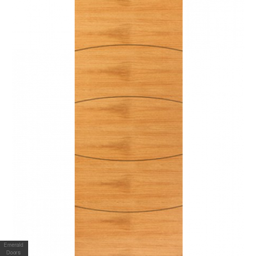 Contemporary Oak Sol Fire Door