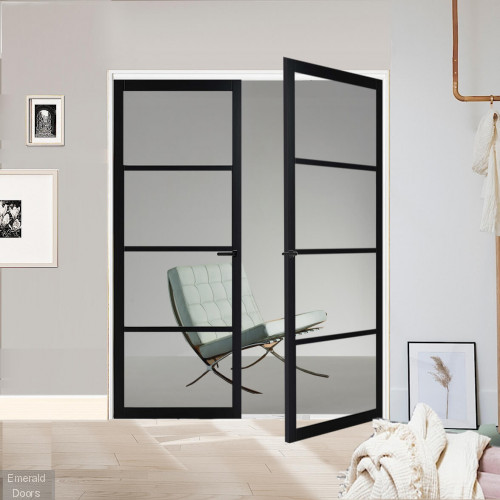 Industrial Style WK8036 Custom Made French Doors