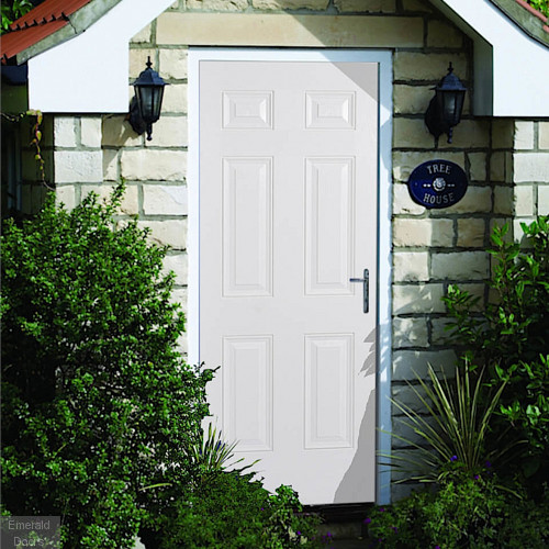 GRP 6 Panel White Composite External Door