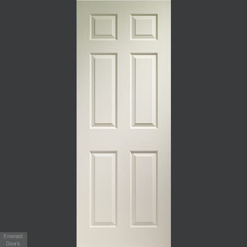 Colonist 6 Panel White Moulded Door