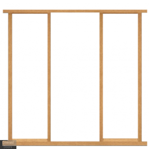 "23"" Oak Sidelight Frame Kit Door Height 78"""