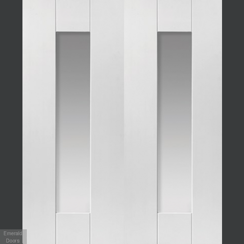 Axis White Glazed Door Pair