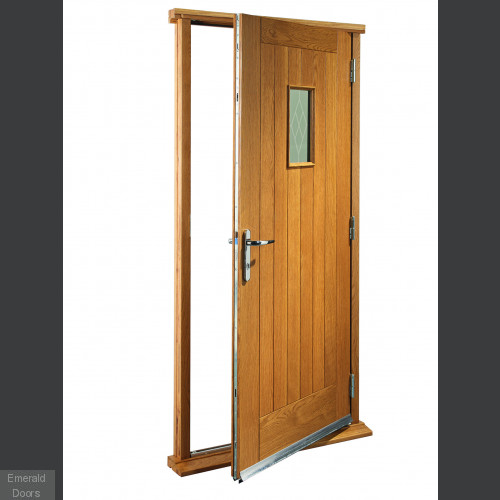 Chancery Oak with Decorative Glass Doorset