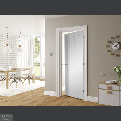 Ely White Fire Rated Door
