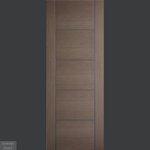 Vancouver 5P Chocolate Grey Fire Door