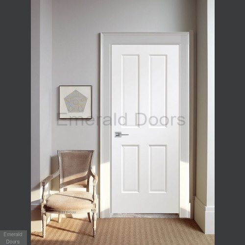 Victorian White 4 Panel Fire Door Fully Finished
