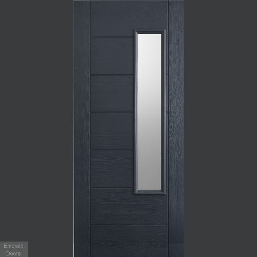 GRP Newbury Grey Composite Grand Entrance Doors
