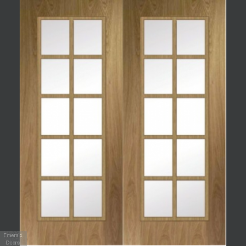 Custom Made Fire Door HBO8 Oak Pair