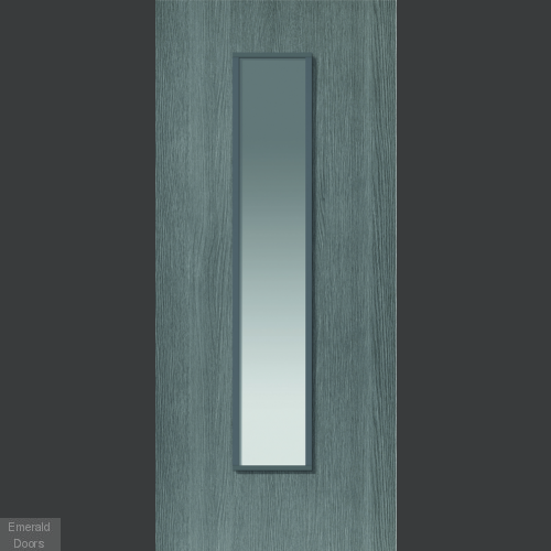 Pintado Clear Glazed Grey Flush Internal Door