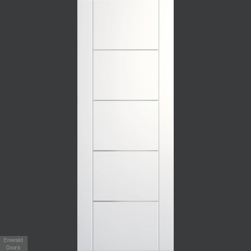 Portici White Door with Aluminium Inlays