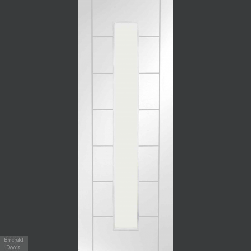 Palermo White 1L Clear Glazed Door