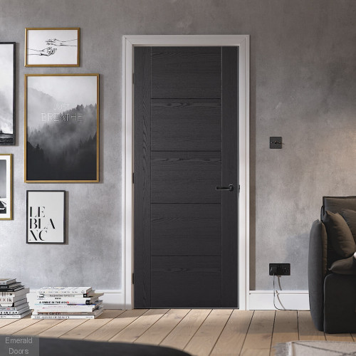 Black Ash Vancouver Laminate Internal Door