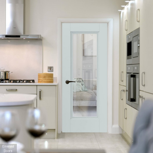 Belton Clear Glazed Internal Door with Decorative Beading