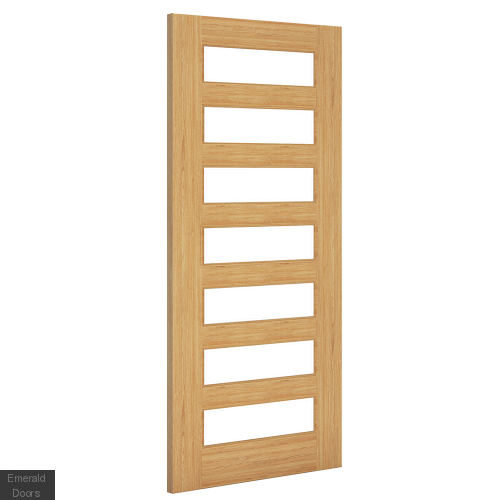 Biarritz Oak Clear Glazed Door Pair