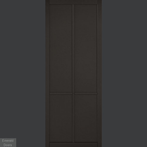 Liberty Black Double Doors with Double Sliding Track