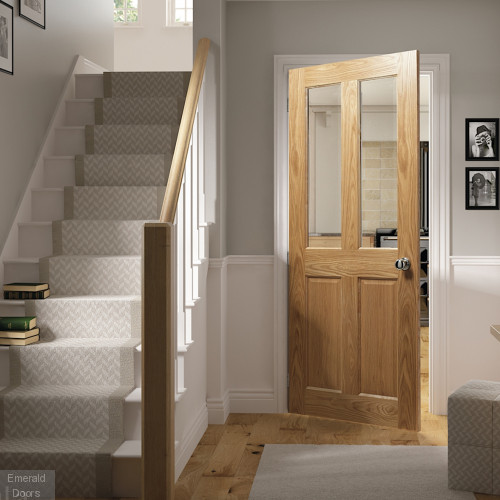Bury Oak Prefinished Clear Glazed Internal Door