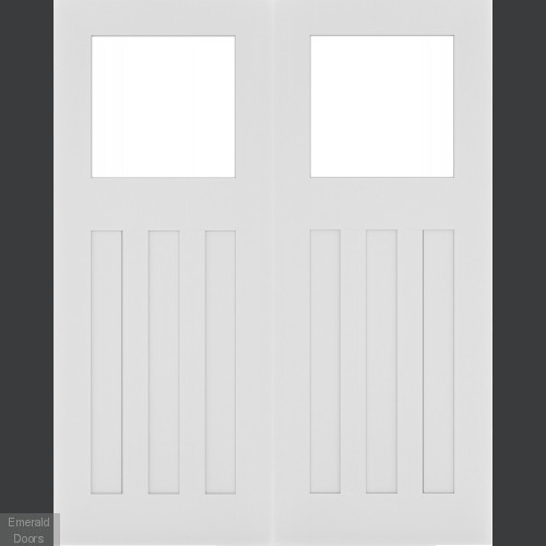 Cambridge Clear Glazed White Door Pair