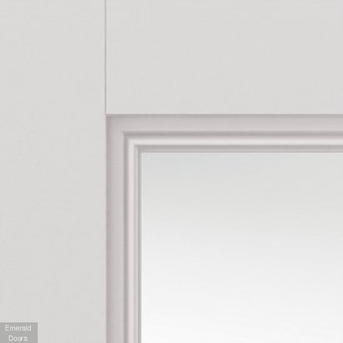 Catton Clear Glazed Internal Door with Decorative Mouldings