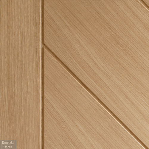 Monza Unfinished Oak Fire Door In Roomset