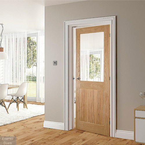 Ely Glazed Oak 1P Internal Door