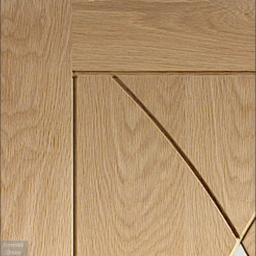 Pesaro with Clear Glass Pre-Finished Oak In Roomset