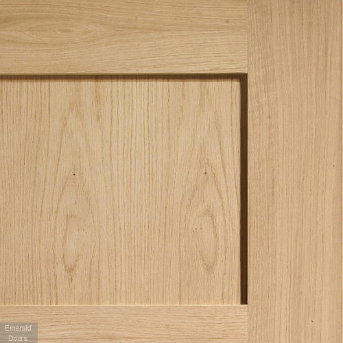 Shaker Oak 4 Panel Fire Door In Situ