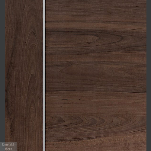Forli Pre-Finished Walnut Door In Roomset