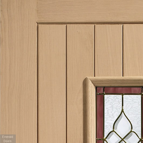 Chancery Onyx Tri-Glazed External Oak Door