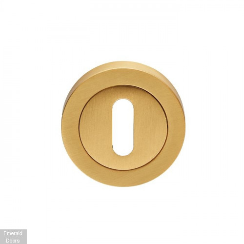 Varese Satin Brass Lock Escutcheon