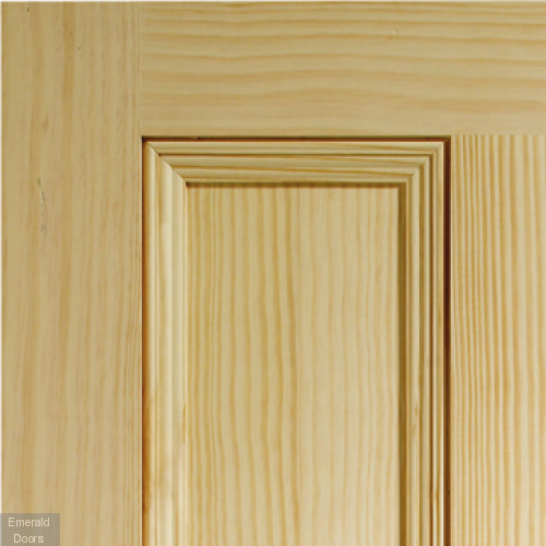 Edwardian 4 Panel Vertical Grain Internal Door In Roomset