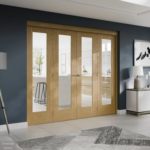 Freefold Folding Internal Oak Doors
