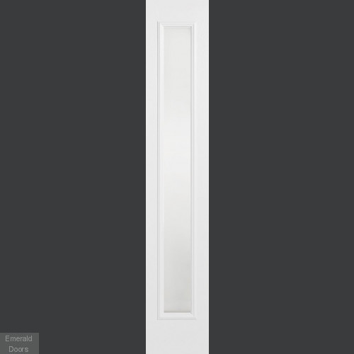 GRP White Composite Sidelight with Frosted Glass