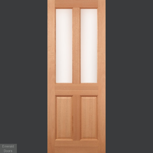 Hardwood Malton Obscure Double Glazed External Door